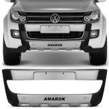 Overbumper-Amarok-10-11-12-13-14-15-Preto-com-Prata-Front-Bumper-Connect-Parts--1-